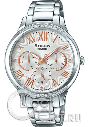 8e046bb4c7dd Casio Sheen SHE-3058D-7A - купить женские наручные часы Casio SHE ...