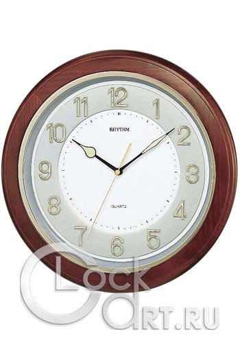 часы Rhythm Wooden Wall Clocks CMG266BR06