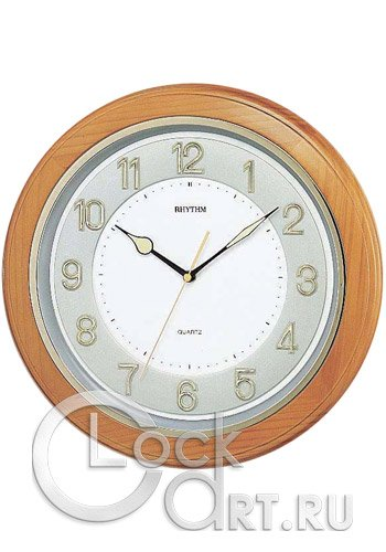часы Rhythm Wooden Wall Clocks CMG266BR07