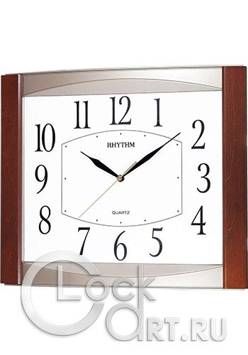 часы Rhythm Wooden Wall Clocks CMG899NR06