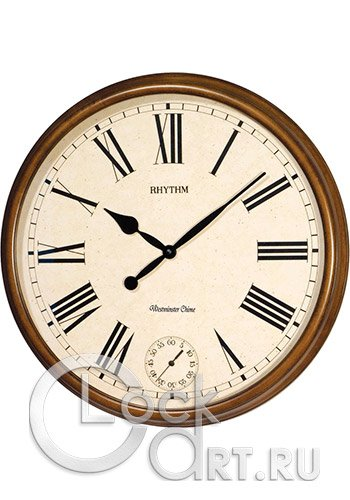 часы Rhythm Wooden Wall Clocks CMH721CR06