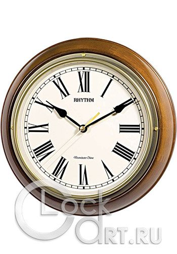 часы Rhythm Wooden Wall Clocks CMH723CR06