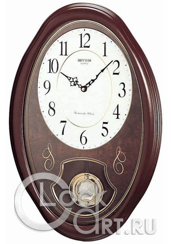 часы Rhythm Wooden Wall Clocks CMJ320NR06
