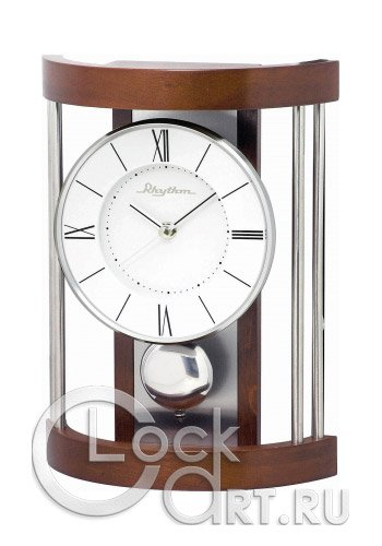 часы Rhythm Wooden Table Clocks CRP608NR06