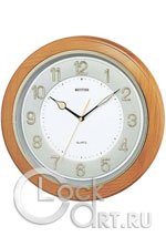 Настенные часы Rhythm Wooden Wall Clocks CMG266BR07