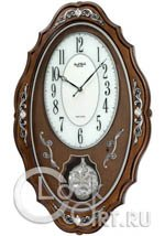 Настенные часы Rhythm High Grade Wooden Clocks CMJ462NR06