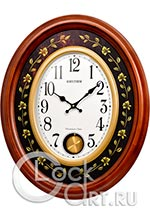 Настенные часы Rhythm High Grade Wooden Clocks CMJ580NR06