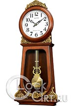Настенные часы Rhythm High Grade Wooden Clocks CMJ589NR06